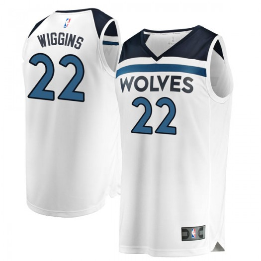 Youth Andrew Wiggins Minnesota Timberwolves Fanatics Branded Swingman White Fast Break Jersey - Association Edition